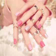 24Pcs Short Full Nail French Tips Natural Finger False Fake Art Artificial Nails