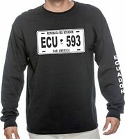 ECUADOR PLATE T-SHIRT LONG SLEEVE CUSTOM TEE