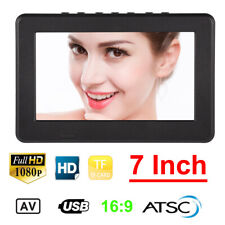 7 Inch HD 1080P Mini Digital TV Player Portable Television ATSC HDTV USB TF US