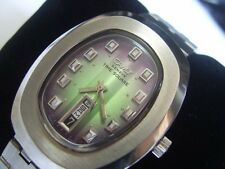 VINTAGE 70'S SS CAMY TIME SQUARE AUTOMATIC CAL 2789-1 DAY DATE AT 6        *6627