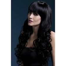 Women's Fever Isabelle Brown Long Straight Professional Model Wig Fancy Dress