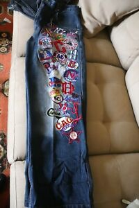 Vintage Negro League Baseball Jeans with Embroidered and Patches Men's Size 40