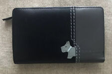 RADLEY LEATHER BLACK & GREY COIN, NOTES & CREDIT CARD PURSE