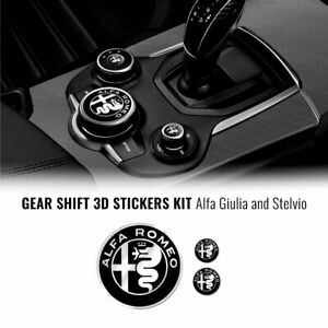 Kit Adesivo Alfa Romeo 3 Loghi per Interno Giulia Stelvio