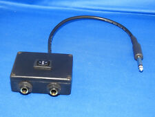 Tattoo power supply adapter single output to two outputs with switch