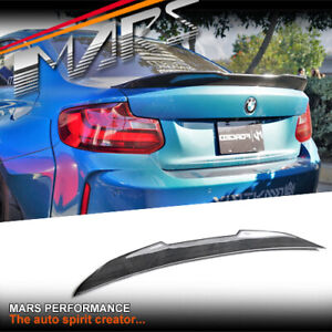 PSM Style Carbon Rear Trunk Lip Spoiler Wing for BMW F22 Coupe & F87 M2 BodyKit