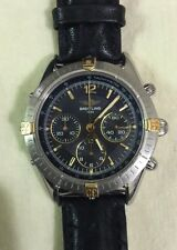 Breitling 1884B30011 18KT YellowGold Automatic Leather Strap Mens Watch