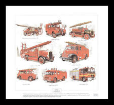 Fire Engines Leyland Cub Dennis N Type Austin Art Print