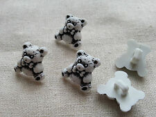 6 x Kids Buttons Clothing Sewing Knitting Card Making Teddy Bear