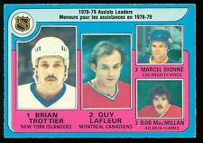1979-80 OPC O PEE CHEE #2 ASSIST LEADERS EXNM GUY LAFLEUR TROTTIER Dionne HOCKEY