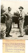 PHOTO DE PRESSE POURPARLERS DE KNESONG AMIRAL JOY ET LE GENERAL RIDGWAY