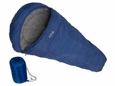 LARGE MUMMY SHAPE WARM SINGLE SLEEPING BAG FOR CAMPING CARAVAN AND TRAVEL BAG