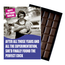 Novelty Chocolate Gifts Women Friend Girlfriend Funny Greeting Birthday Card UK
