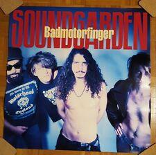 "Soundgarden CHRIS CORNELL original ""Badmotorfinger"" promo poster RARE"