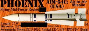 The Launch Pad Plan Pack Series PHOENIX AIM-54C (USA) FREE SHIPPING