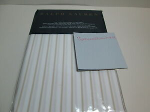 NEW Ralph Lauren Prescot Stripe Taupe & White Cal King Fitted Sheet $215 New