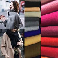 New Fashion Women's Cashmere Scarf Winter Warm Solid Long Pashmina Shawl Wrap