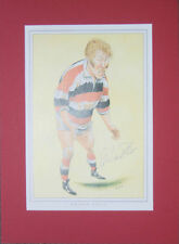 GRAHAM PRICE PONTYPOOL & WALES CARICATURE SIGNED RUGBY PRINT WITH COA