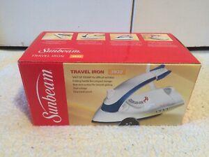Sunbeam Shot of Steam Travel Iron #3932 Folding Handle w/ Travel Pouch New NIB