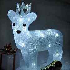 Efecto de cristal Decoración de Navidad de luz LED Reno