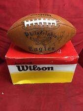 Team Signed Eagles Football 1980-1 super bowl  XV  Autographed Football 20+ auto