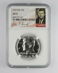 1967 MS67 SMS Special Mint Set Kennedy Half Dollar NGC Graded *000