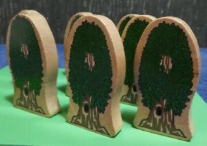 9 WOODEN TREES BLOCKS ELC EARLY LEARNING CENTRE 2009 KIDKRAFT