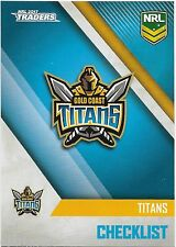 2017 NRL Traders Base Card (041) TITANS Check List
