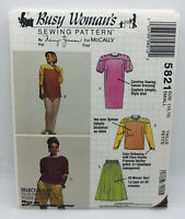 Busy Womans Sewing Pattern By Nancy Zieman For McCalls 5821 Small 10 12 VTG NEW!