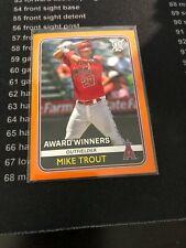 2020 Topps Big League Mike Trout Huge 10 Card Lot Base & Orange Award Winners