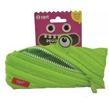 Zipit Pencil Case 22cm x 9cm Monster Lime-Free Post-Lifetime Warrantee-just Wow