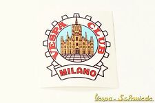"Dekor Aufkleber ""Vespa Club Milano"" - Italien Italy Italia Mailand Sticker Klub"