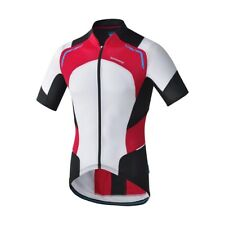 Shimano, Mens, hot condition cycling jersey, Large, Short sleeve, Red/White
