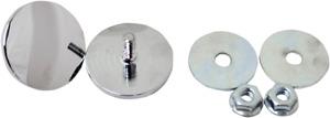 LA Choppers Fairing Mirror Hole Plugs Chrome LA-9001-00