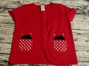 Gymboree Polka Dot Ladybug Size 7-8 Sweater Shirt NWT