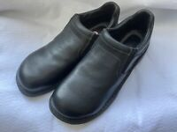 Mens Carolina Steel Toe Low Cut Slip On Leather Safety Work Shoe Size 10 Black