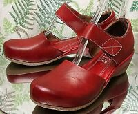 SPRING STEP L' ARTISTE RED LEATHER LOAFERS DRESS SHOES US WOMENS SZ 9 EU 40