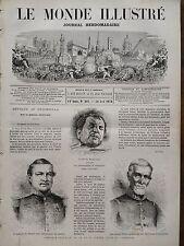 LE MONDE ILLUSTRE 1870 N 681 FIN DE LA GUERRE CIVILE AU GUATEMALA : SERAPIO CRUZ
