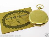 ULYSSE NARDIN 1/4 Repetition TASCHENUHR 18KT GOLD ORIGINAL ZERTIFIKAT v.1924