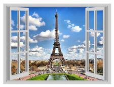 Enorme Torre Eiffel, París Francia cartel de ventana 3D Pared Adhesivo Vinilo Calcomanía Mural