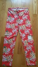 NWT Girls Old Navy Leggings cropped regular standard size XL 14 red floral print