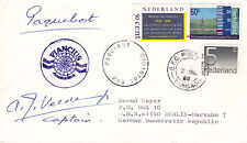DUTCH PASSENGER SHIP MS PLANCIUS A CAPTAIN SIGNED SHIPS CACHED COVER