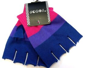 New Fingerless Bisexual Gloves Gay Bi Pride LGBT WARMER  USA SELLER