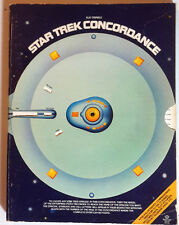 Original 1976 Star Trek Concordance Reference Book-Signed by Bjo Trimble (E1245)