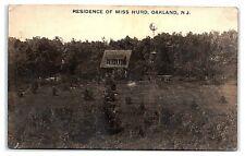 RPPC Miss Hurd Residence, Oakland, NJ Real Photo Postcard *7E15