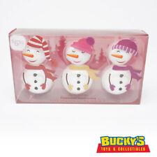 Snowman Bath Bombs Peppermint Scent Gift Set Fizzy Spa Bubble Bath Snowmen