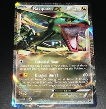 Rayquaza EX 85/124 BW Dragons Exalted HOLO Rare NEAR MINT Pokemon Card