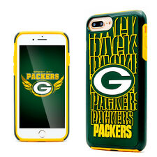 NFL Packers Licensed iPhone 7+ Plastic Protection Phone Case Dual Hybrid Cover