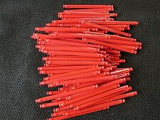 "100 Micro K'Nex Red 2 1/2"" (64 mm) Rods replacement 2 1/2 inch mini parts/pieces"