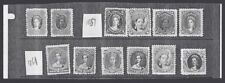 Jim Czyl Bogus photocopy prototypes of USA 1869-76 stamps with contemeporary QV